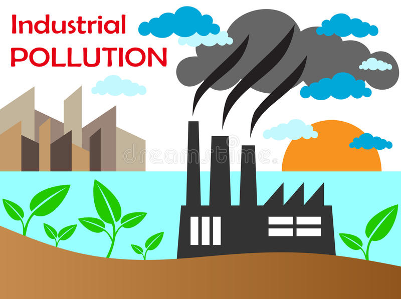 Ατμοσφαιρική ρύπανση του εργοστασίου στοκ φωτογραφία με δικαίωμα ελεύθερης χρήσης