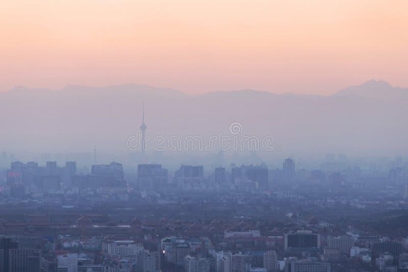Ατμοσφαιρική ρύπανση του Πεκίνου στοκ εικόνες