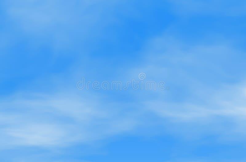 Ατμοσφαιρικό φαινόμενο, πολύβλαστα, άσπρα σύννεφα ενάντια στο μπλε ουρανό απεικόνιση αποθεμάτων