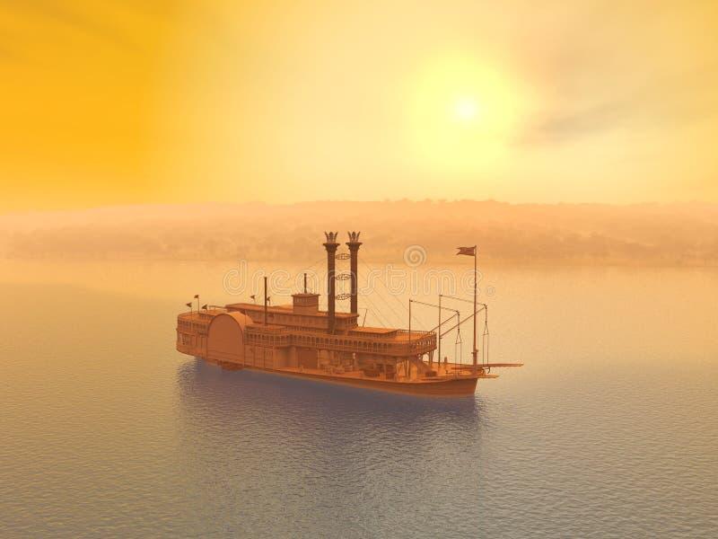 Ατμόπλοιο του Μισισιπή απεικόνιση αποθεμάτων