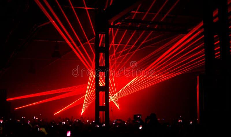 Ατμόσφαιρα στη συναυλία στοκ εικόνα