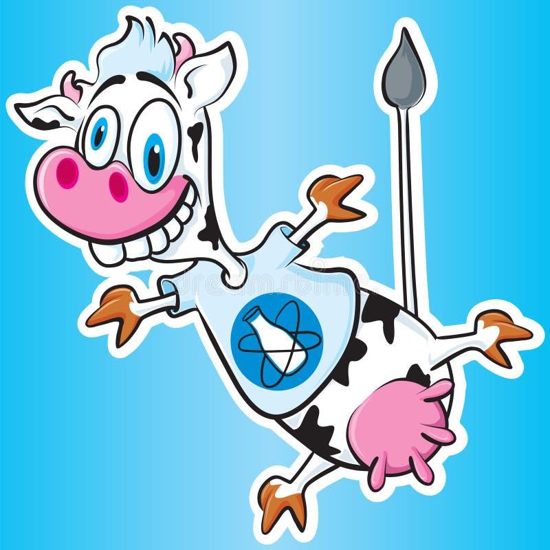 ατομική αγελάδα διανυσματική απεικόνιση