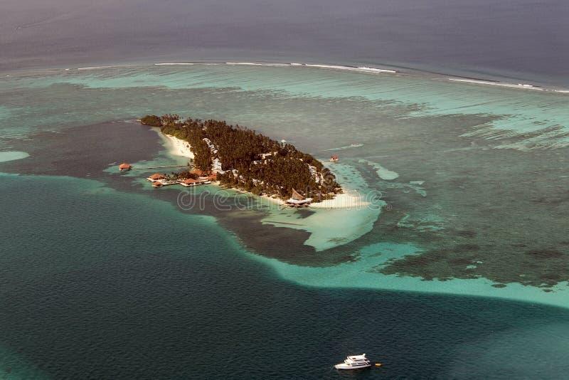 ατόλλη maldivian στοκ εικόνα