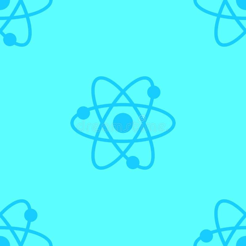 Ατόμων επιστήμης μπλε σχεδίων που χρωματίζεται άνευ ραφής απεικόνιση στοκ εικόνες