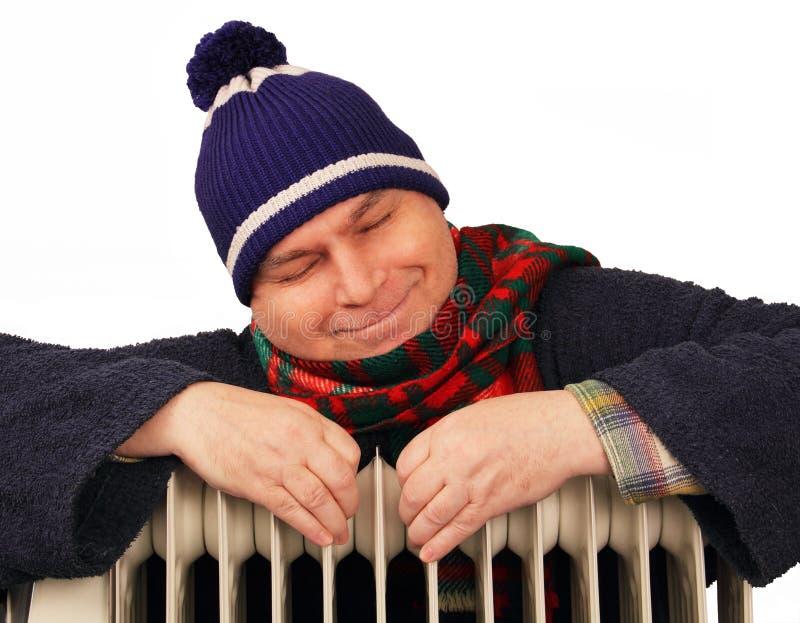 Ατόμων στη θερμάστρα. στοκ φωτογραφίες