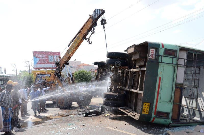 Ατύχημα λεωφορείων στοκ φωτογραφία με δικαίωμα ελεύθερης χρήσης