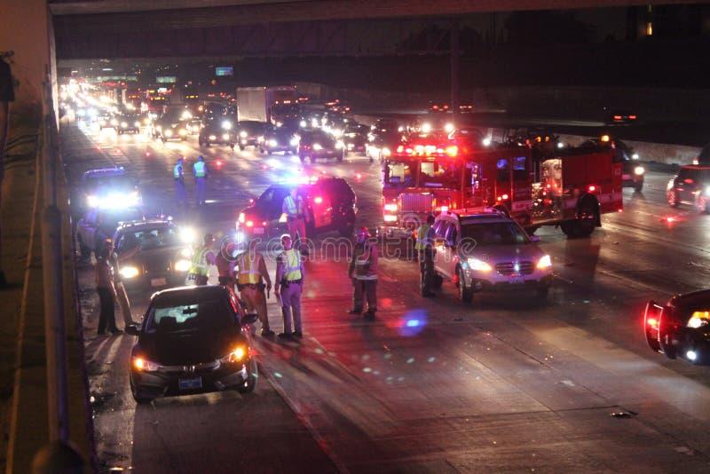 Ατύχημα στα 405 στοκ εικόνα με δικαίωμα ελεύθερης χρήσης