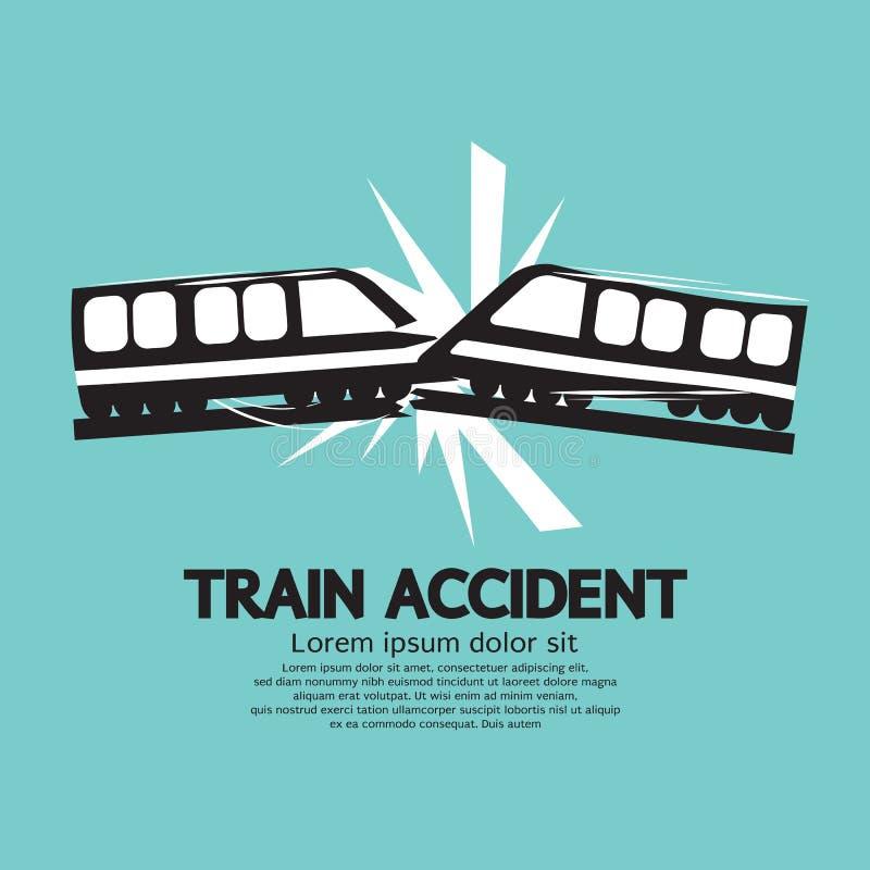 Ατύχημα τραίνων γραφικό απεικόνιση αποθεμάτων