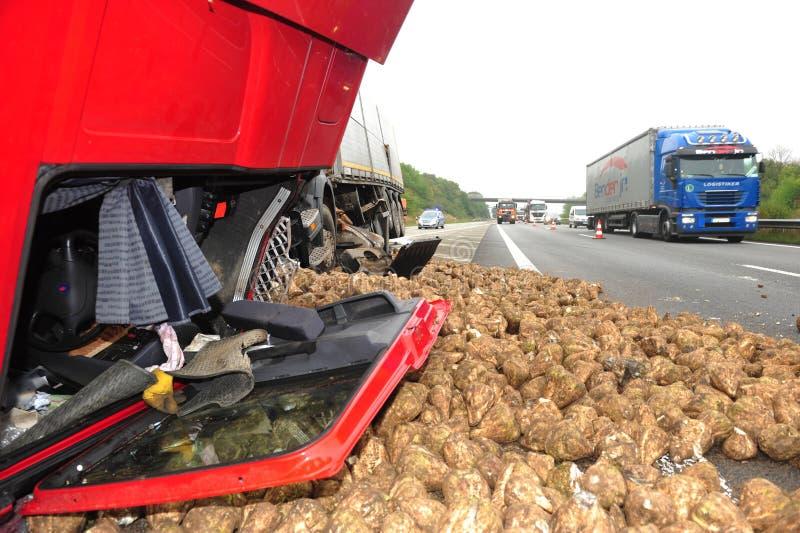 Ατύχημα φορτηγών στοκ φωτογραφία