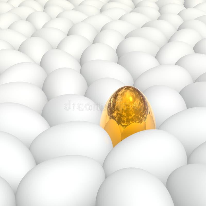 αυγά ανασκόπησης απεικόνιση αποθεμάτων
