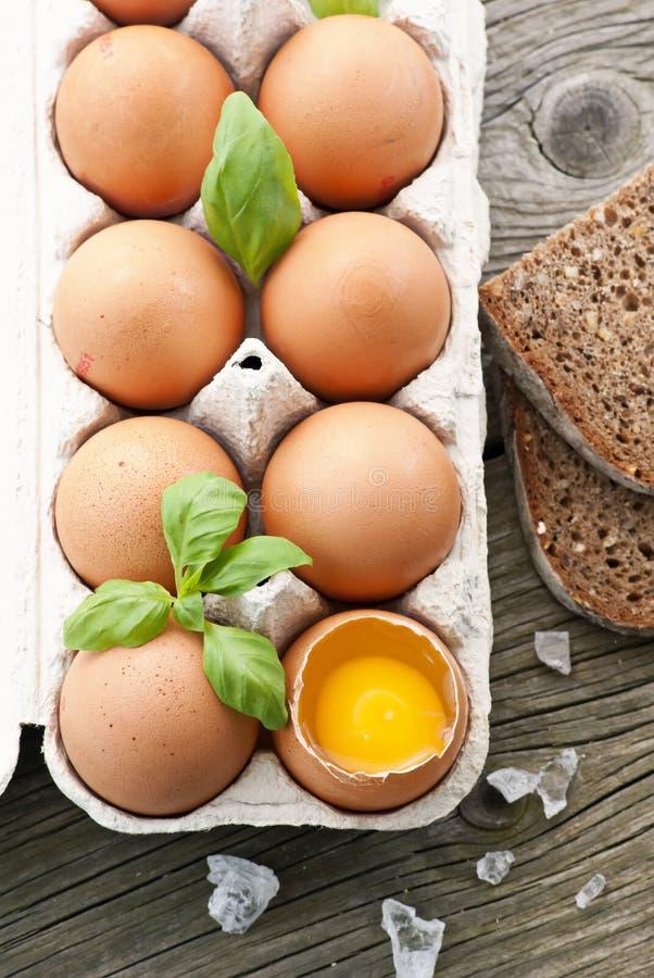 αυγά αυγών κιβωτίων στοκ εικόνες