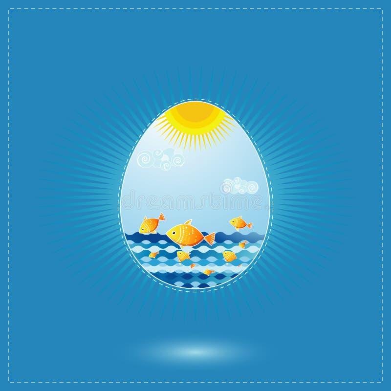 αυγά Πάσχας ένα διάνυσμα ελεύθερη απεικόνιση δικαιώματος