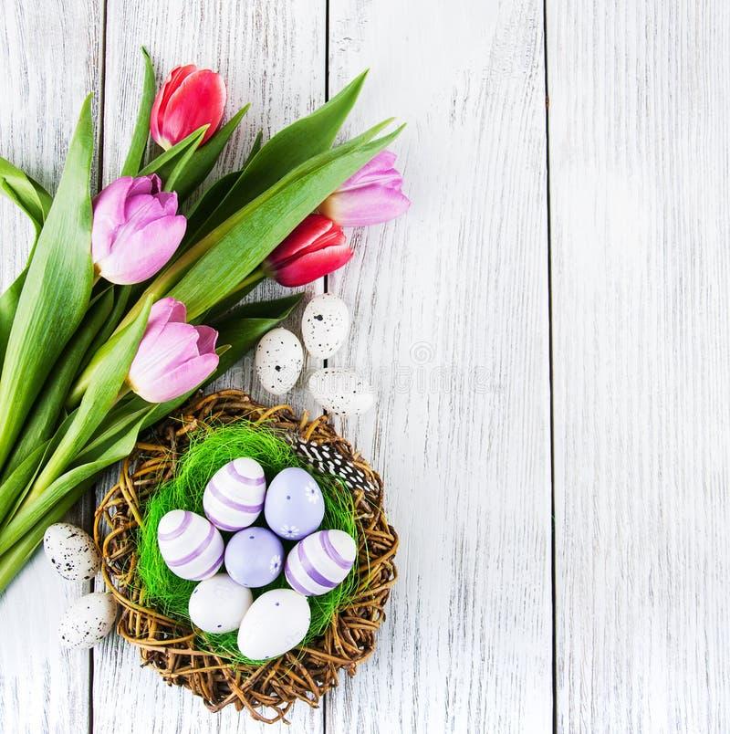αυγά Πάσχας ανασκόπησης στοκ εικόνες