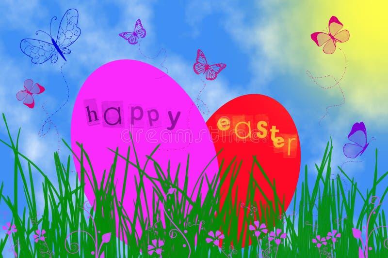 αυγά Πάσχας δύο διανυσματική απεικόνιση
