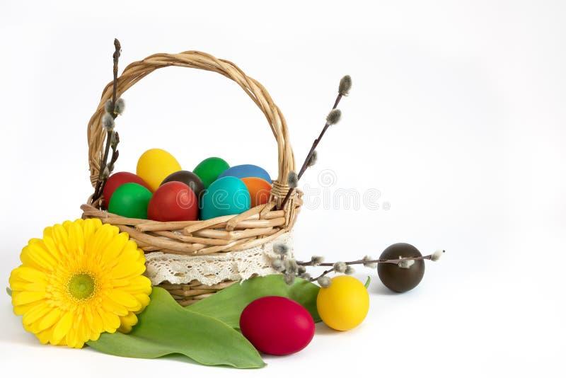αυγά Πάσχας καλαθιών στοκ φωτογραφίες με δικαίωμα ελεύθερης χρήσης