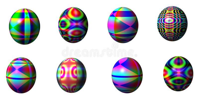 αυγά Πάσχας οκτώ απεικόνιση αποθεμάτων