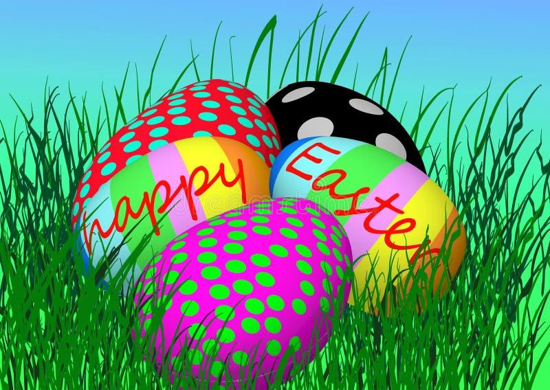 αυγά Πάσχας πέντε στοκ εικόνα
