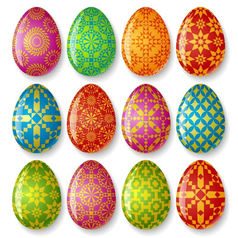 αυγά Πάσχας που τίθενται διανυσματική απεικόνιση