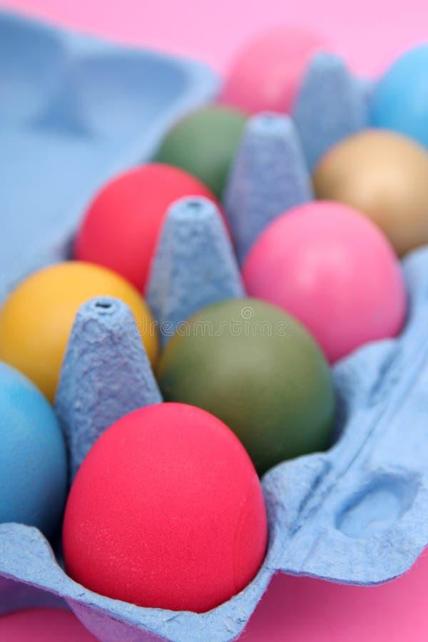 αυγά Πάσχας χαρτοκιβωτίων στοκ εικόνες