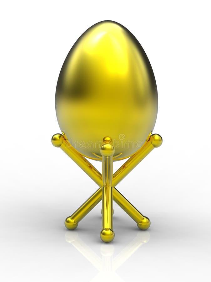 αυγά Πάσχας χρυσά διανυσματική απεικόνιση