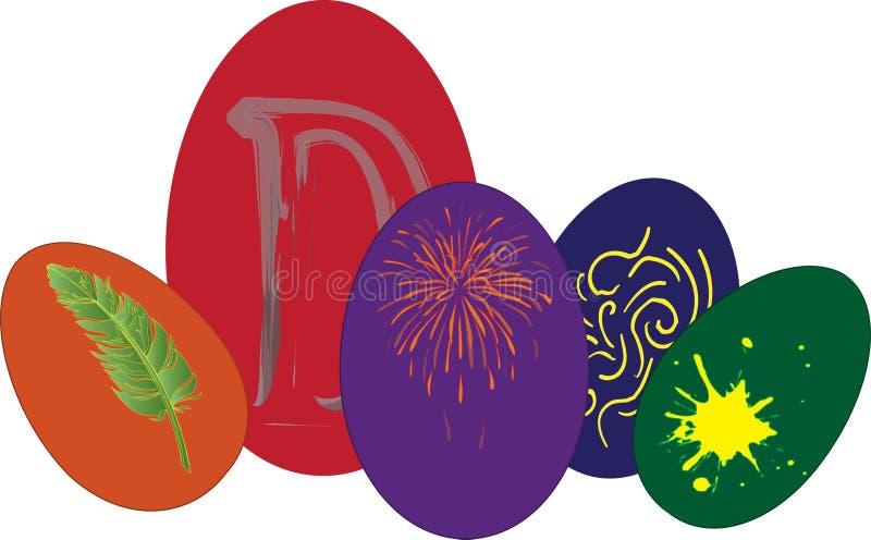 Download αυγά Πάσχας διανυσματική απεικόνιση. εικονογραφία από χρωματισμένος - 13184064