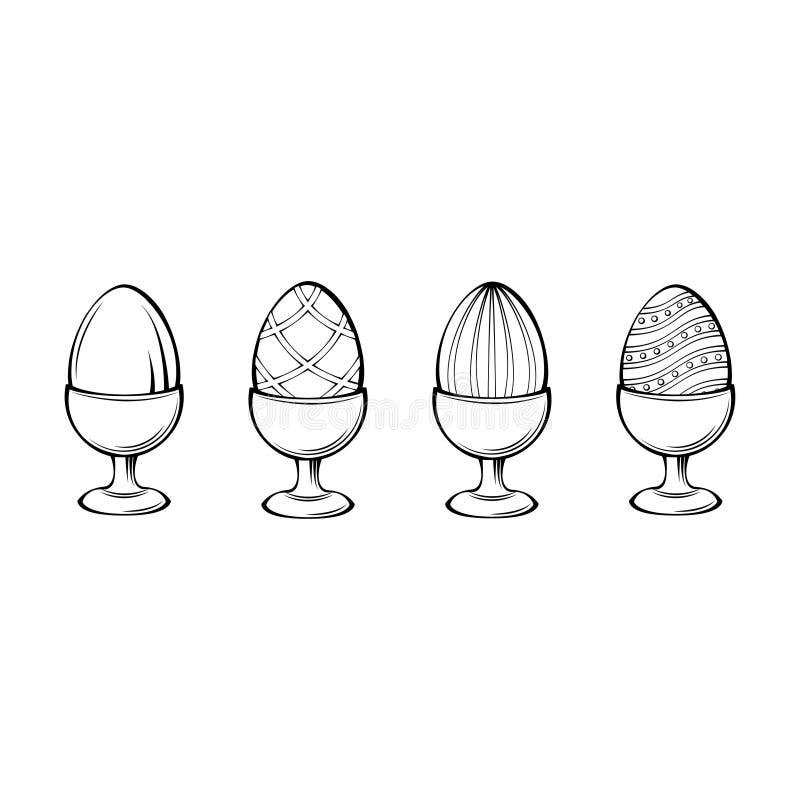Αυγά σε μια στάση διανυσματική απεικόνιση