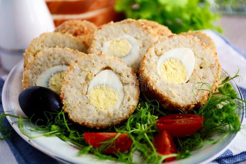 αυγά σκωτσέζικα στοκ εικόνες