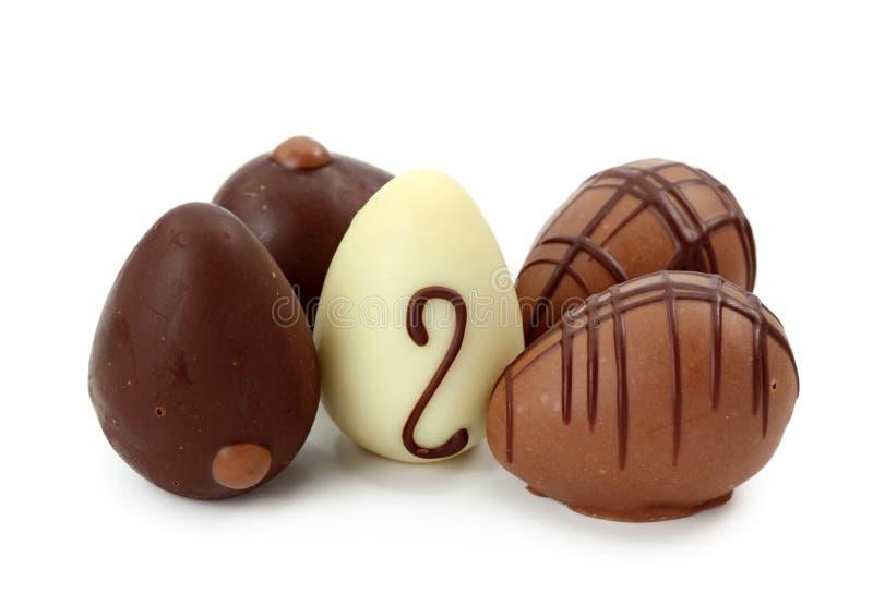 αυγά σοκολάτας στοκ εικόνα με δικαίωμα ελεύθερης χρήσης