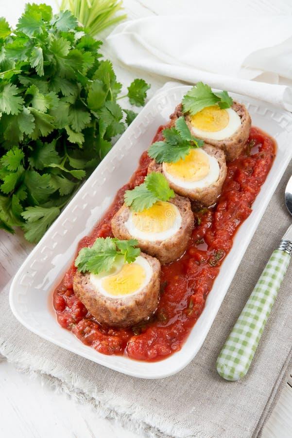 Αυγά στα σκωτσέζικα στοκ φωτογραφία
