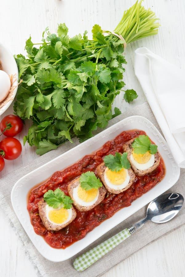 Αυγά στα σκωτσέζικα στοκ φωτογραφίες με δικαίωμα ελεύθερης χρήσης