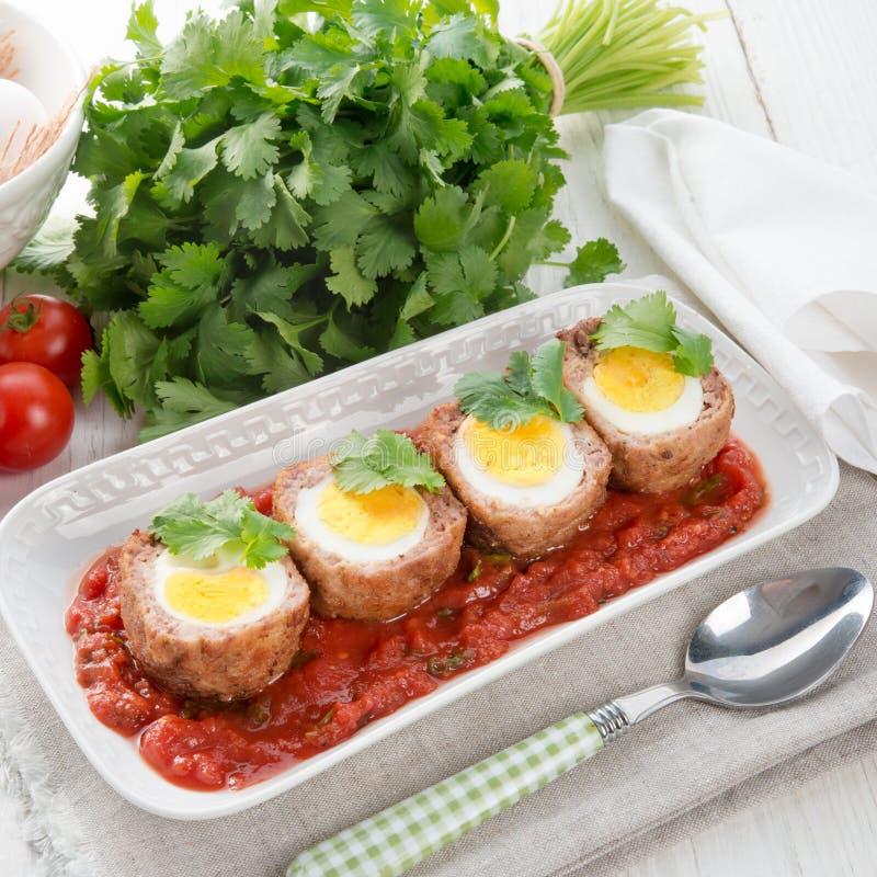 Αυγά στα σκωτσέζικα στοκ εικόνες με δικαίωμα ελεύθερης χρήσης