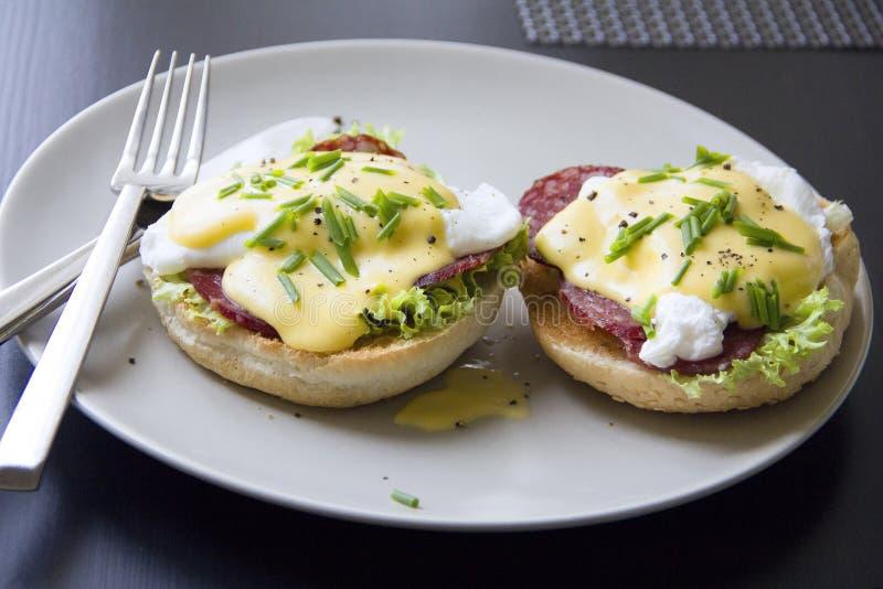 αυγά του Benedict στοκ εικόνες με δικαίωμα ελεύθερης χρήσης