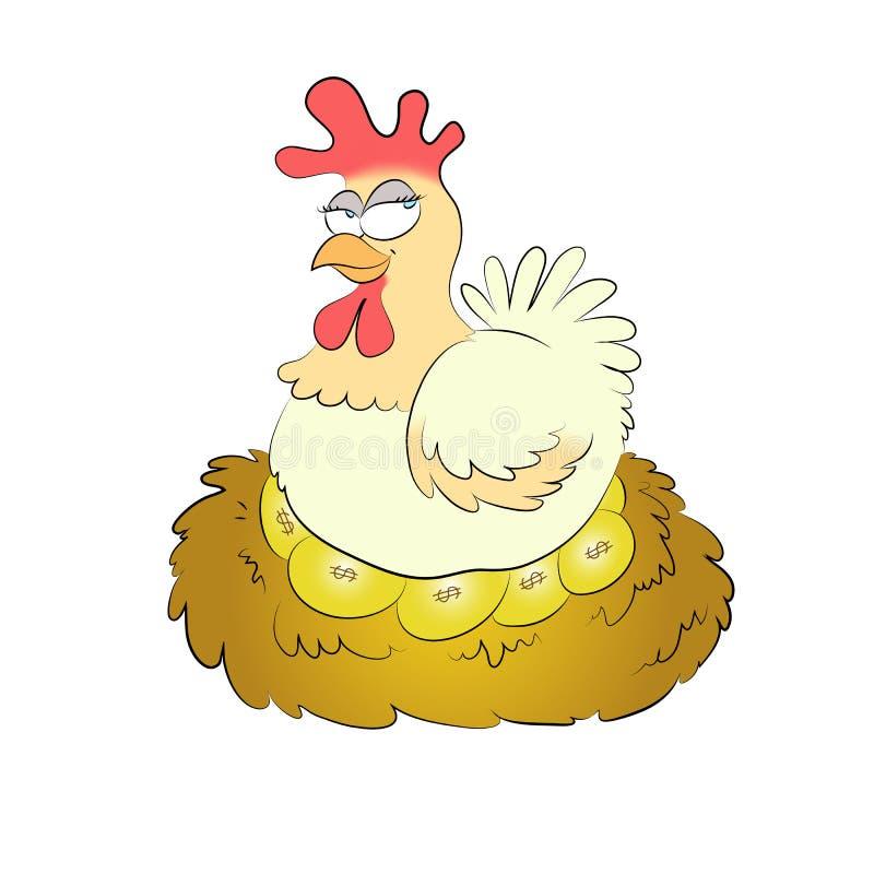 αυγά χρυσά απεικόνιση αποθεμάτων