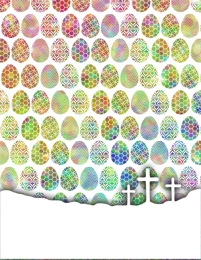 Αυγά χρώματος με τους σταυρούς στοκ φωτογραφία με δικαίωμα ελεύθερης χρήσης