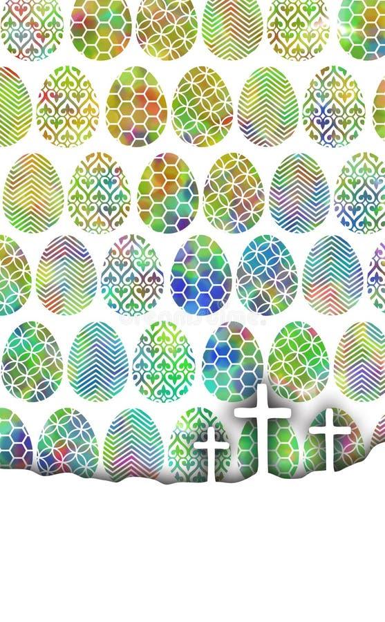 Αυγά χρώματος με το iPhone σταυρών στοκ εικόνες με δικαίωμα ελεύθερης χρήσης