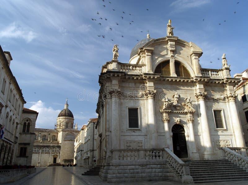 αυγή εκκλησιών dubrovnik στοκ φωτογραφία με δικαίωμα ελεύθερης χρήσης