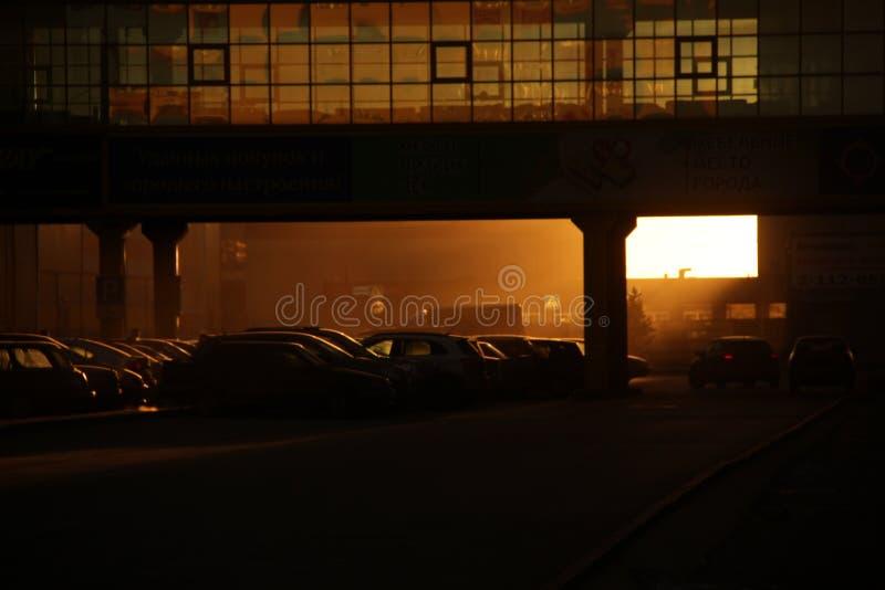 Αυγή εργοστασίων στοκ εικόνες