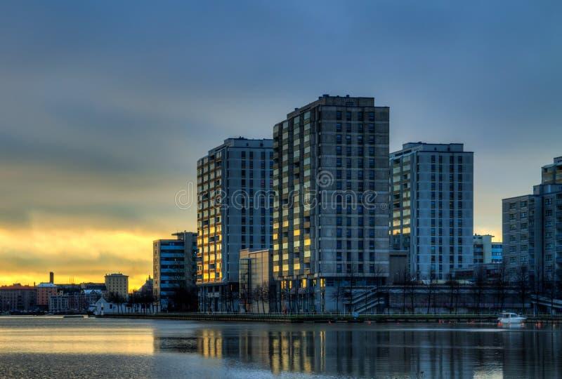 Αυγή πόλεων στοκ εικόνα