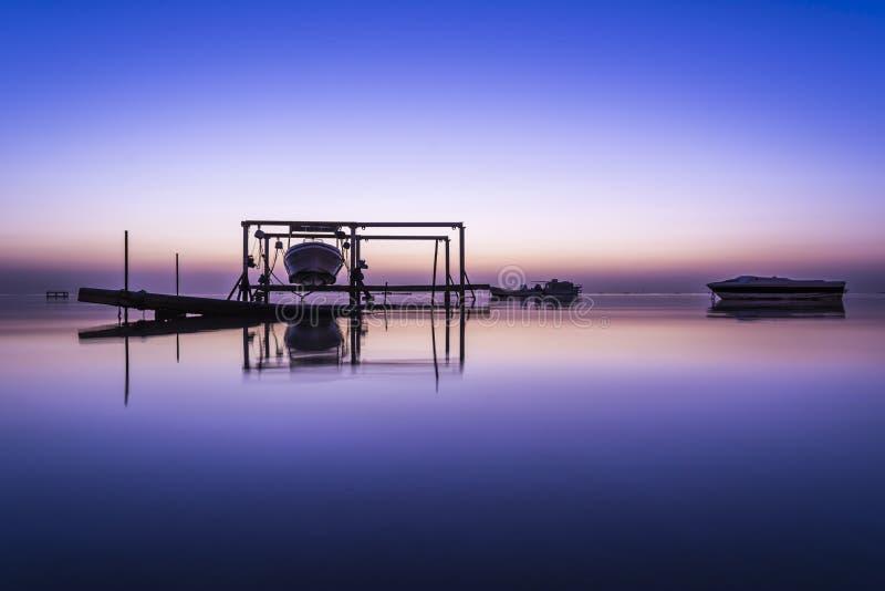 αυγή στο Μπαχρέιν στοκ εικόνα