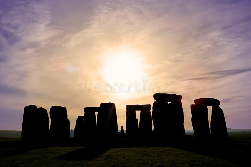 αυγή stonehenge στοκ φωτογραφίες