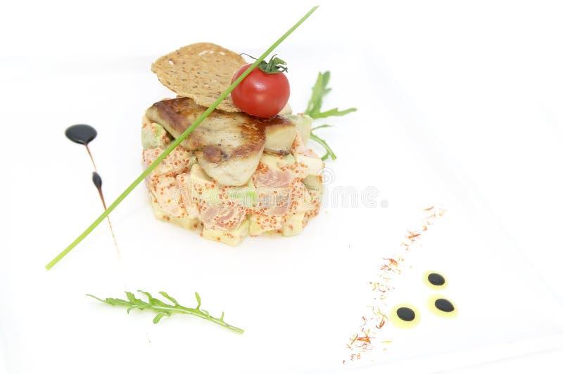 Αυγοτάραχα σαλάτας και ψαριών στοκ εικόνα