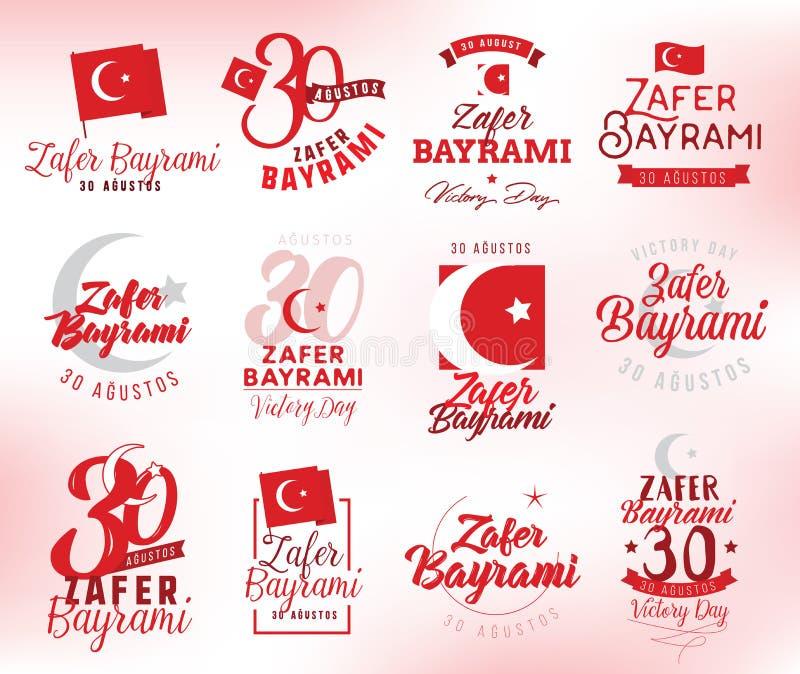30 Αυγούστου, ημέρα νίκης της Τουρκίας στοκ εικόνα