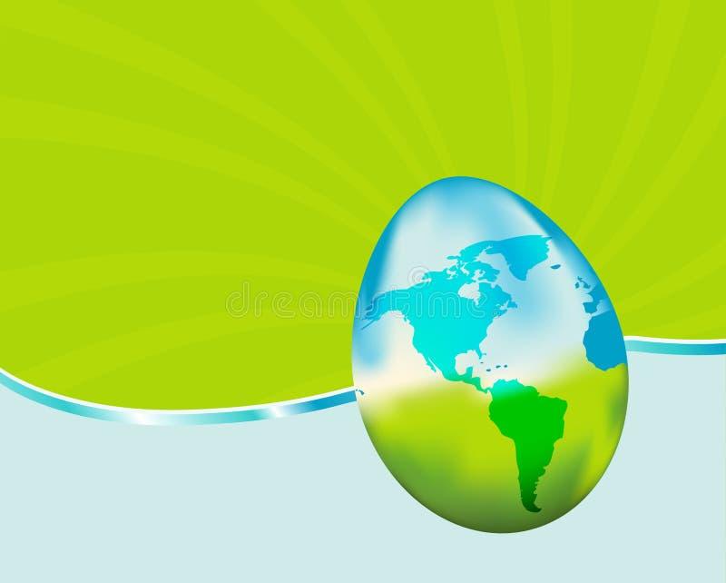 αυγό γήινου Πάσχας ελεύθερη απεικόνιση δικαιώματος