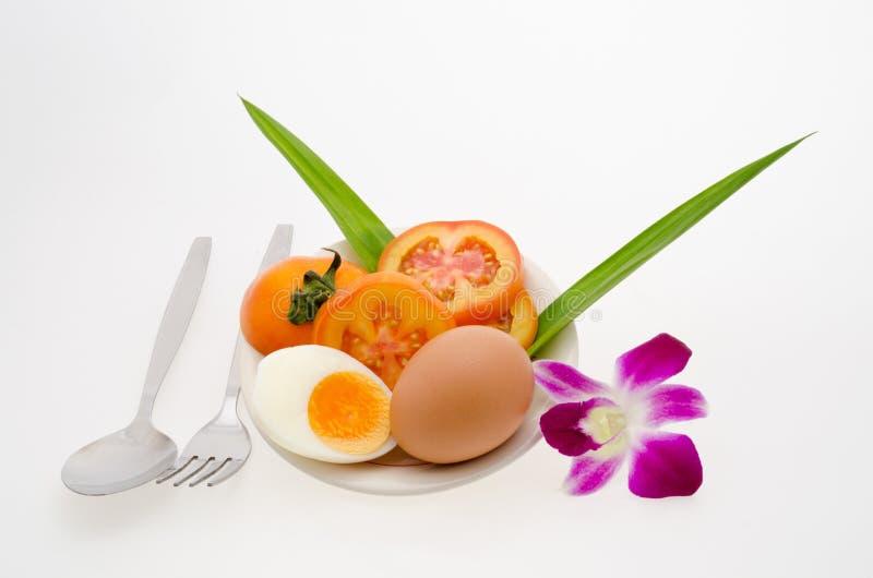 Αυγό και orchid στοκ εικόνες