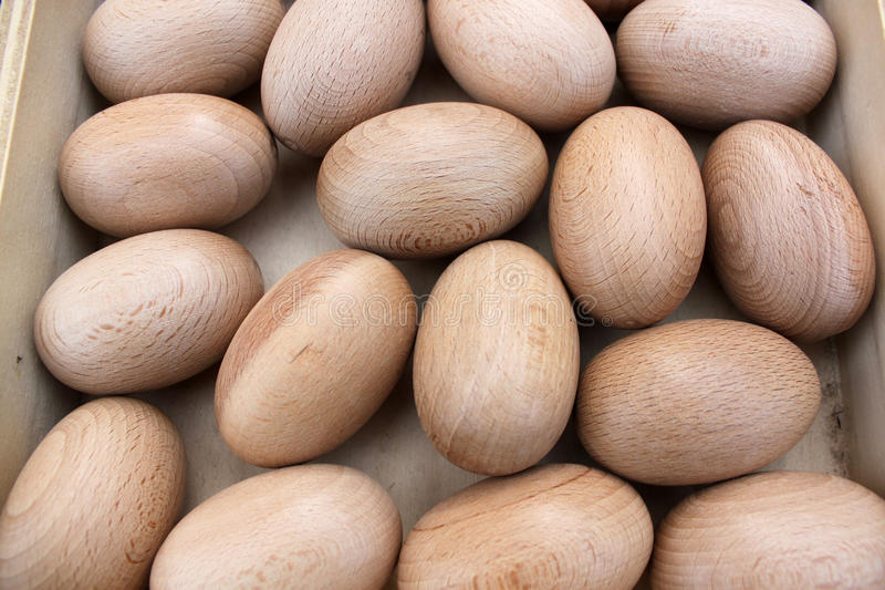 αυγό ξύλινο στοκ εικόνες