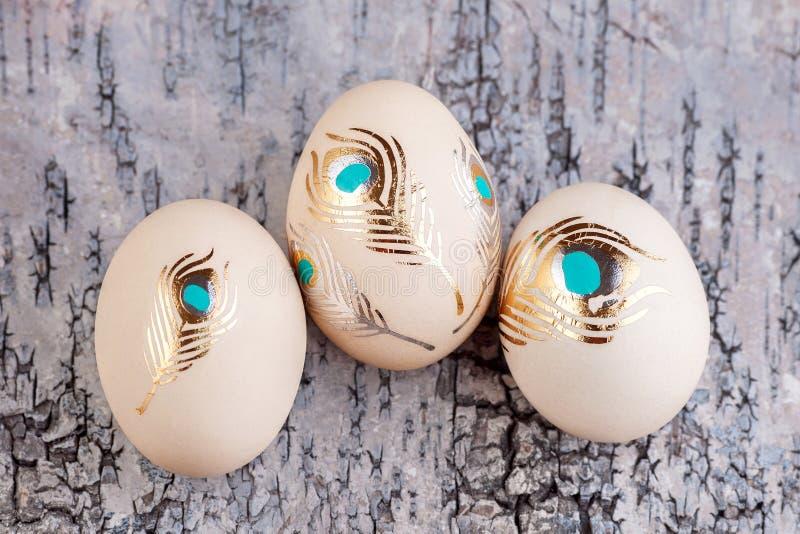 αυγό Πάσχας ανασκόπησης ξύλινο στοκ εικόνα με δικαίωμα ελεύθερης χρήσης