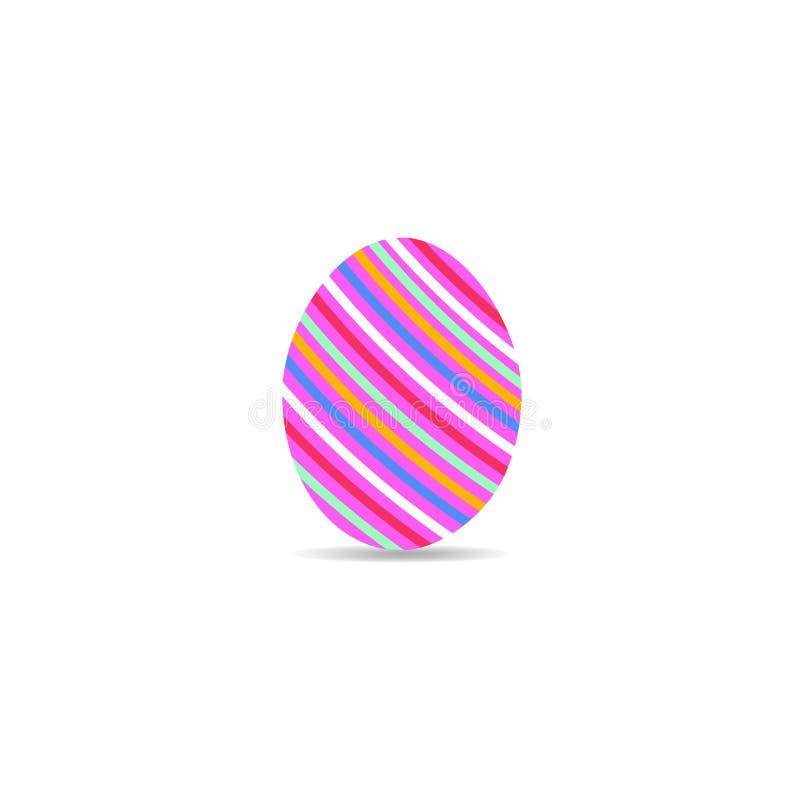 Αυγό Πάσχας με τις γραμμές διακοσμήσεων σε ένα άσπρο υπόβαθρο Διακοπές άνοιξη επίσης corel σύρετε το διάνυσμα απεικόνισης αυγό Πά απεικόνιση αποθεμάτων