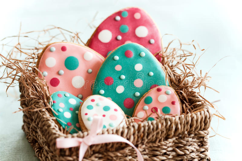 αυγό Πάσχας μπισκότων στοκ εικόνες με δικαίωμα ελεύθερης χρήσης