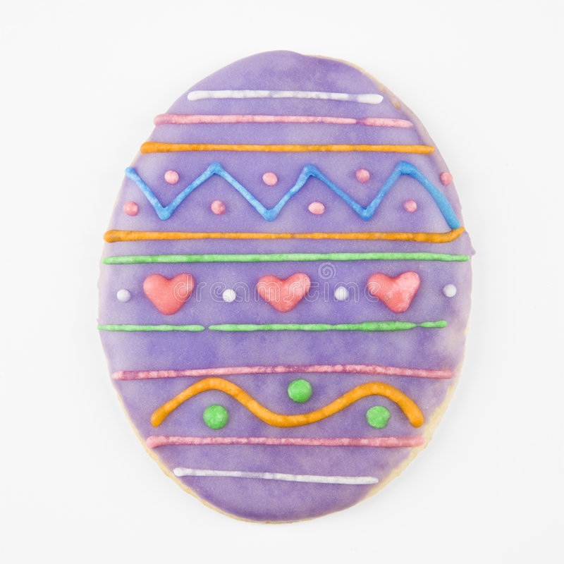 αυγό Πάσχας μπισκότων στοκ φωτογραφία με δικαίωμα ελεύθερης χρήσης