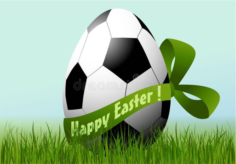 Αυγό Πάσχας ποδοσφαίρου διανυσματική απεικόνιση